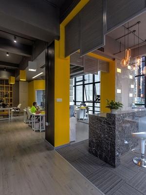 600m?办公室装修设计-济南直轮科技有限企业