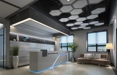 800平米-点云科技-办公室装修设计